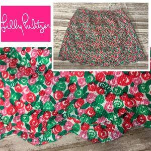 Lilly Pulitzer • Scalloped Edge Mini Skirt • Sz 6